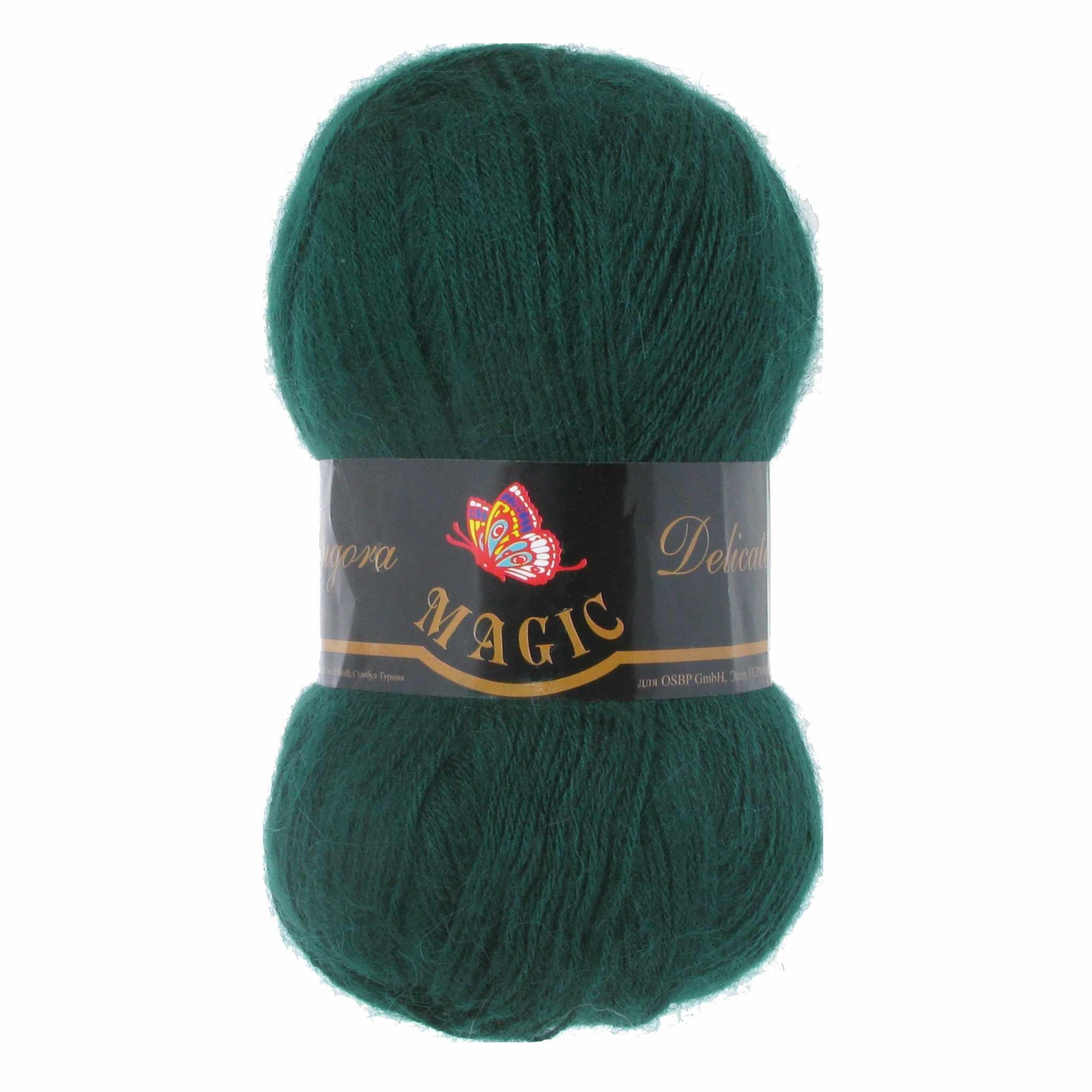 Пряжа Magic Angora Delicate Цвет.1109 Темно-зеленый