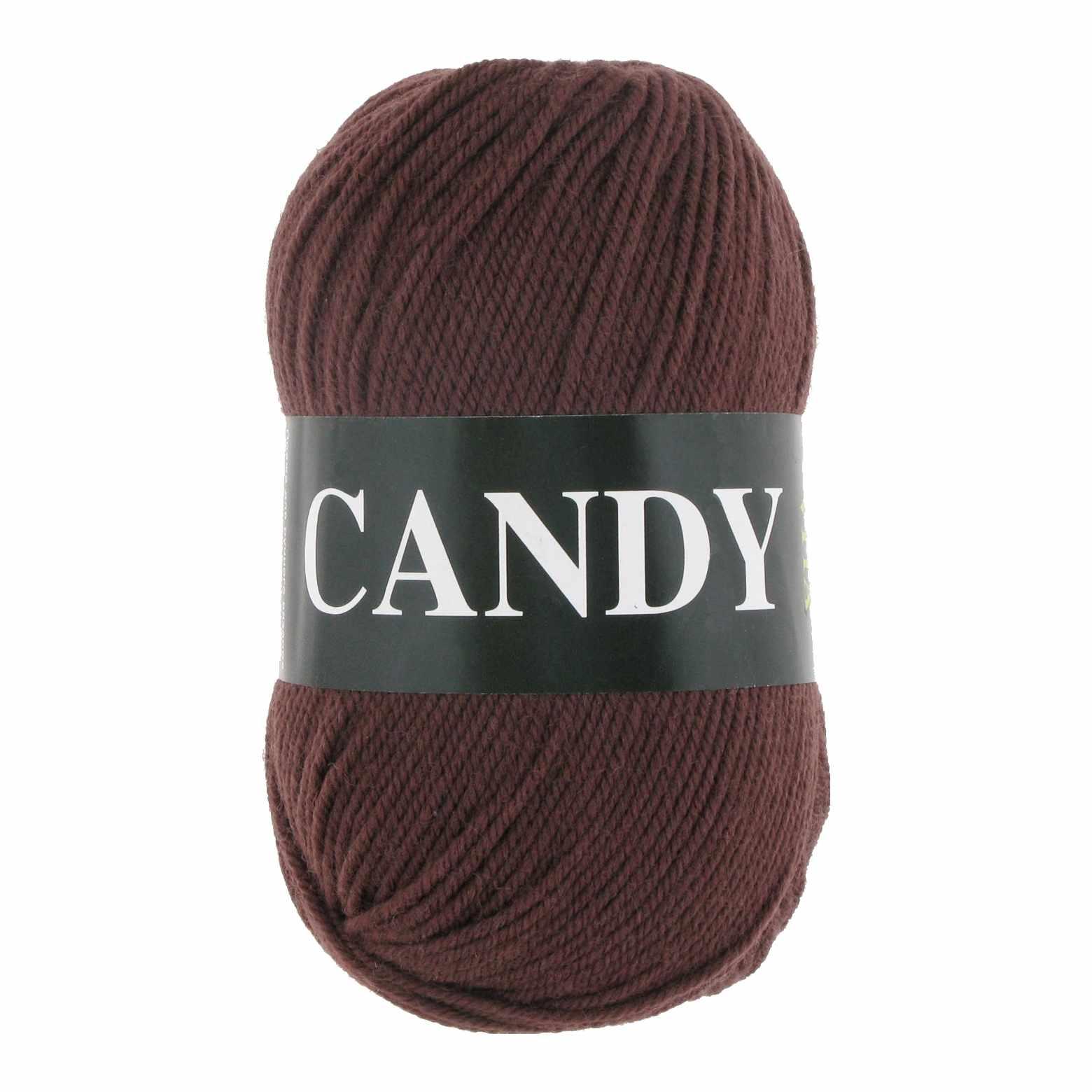 Пряжа VITA Candy Цвет.2535 Темно молочный шоколад