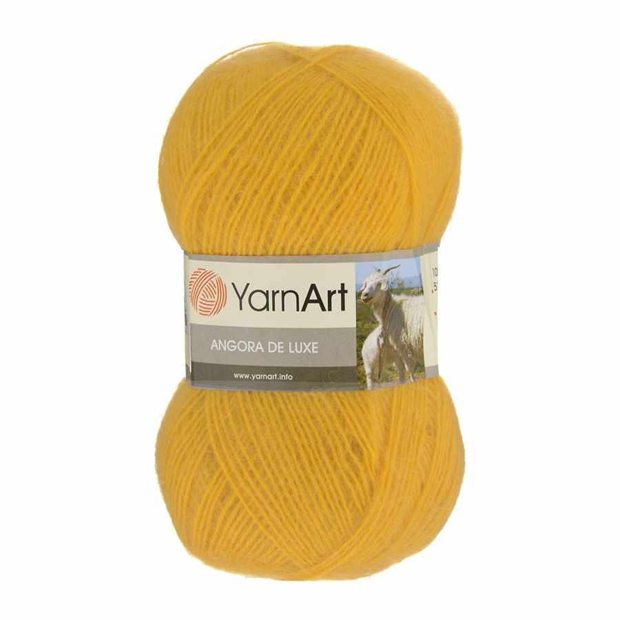 Пряжа YarnArt Angora De Luxe Цвет.586 Канарейка