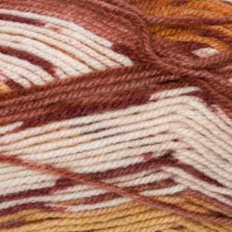 Пряжа YarnArt Crazy Color Цвет.138 Бежево-оранжевый меланж