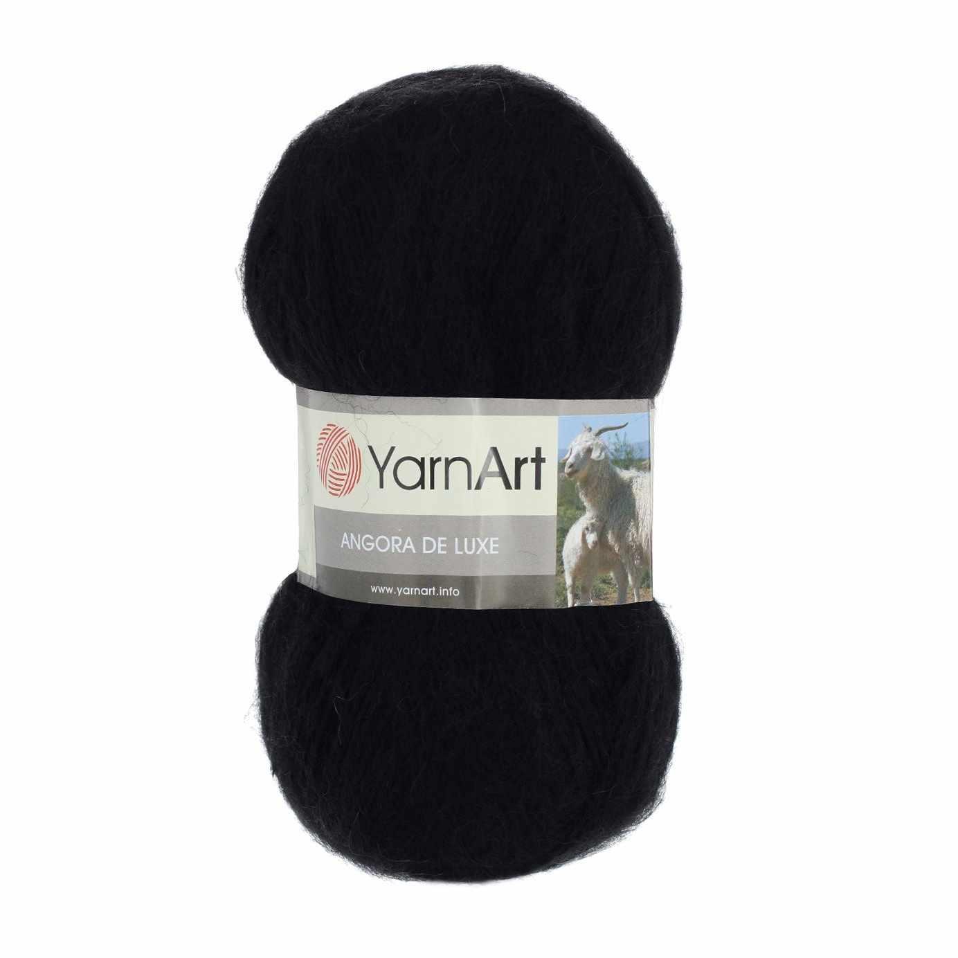 Пряжа YarnArt Angora De Luxe Цвет.585 Черный
