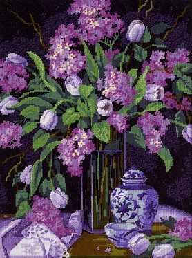 20067-DMS Тюльпаны и сирень
