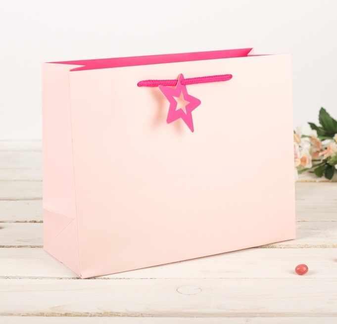 2749670 Пакет подарочный, розовый