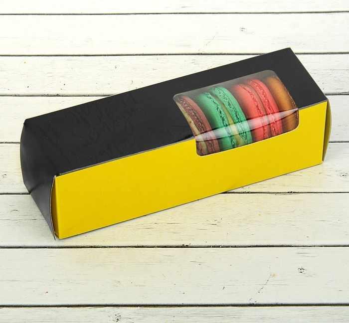 """2861777 Коробка для сладостей """"Не жди, действуй"""", желтый"""