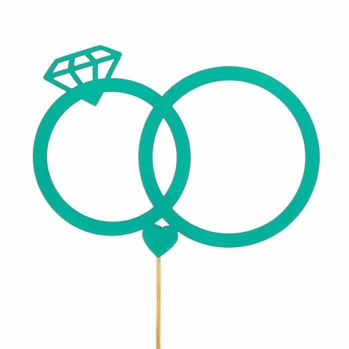 2885843 Топпер «Свадебные кольца», мятный