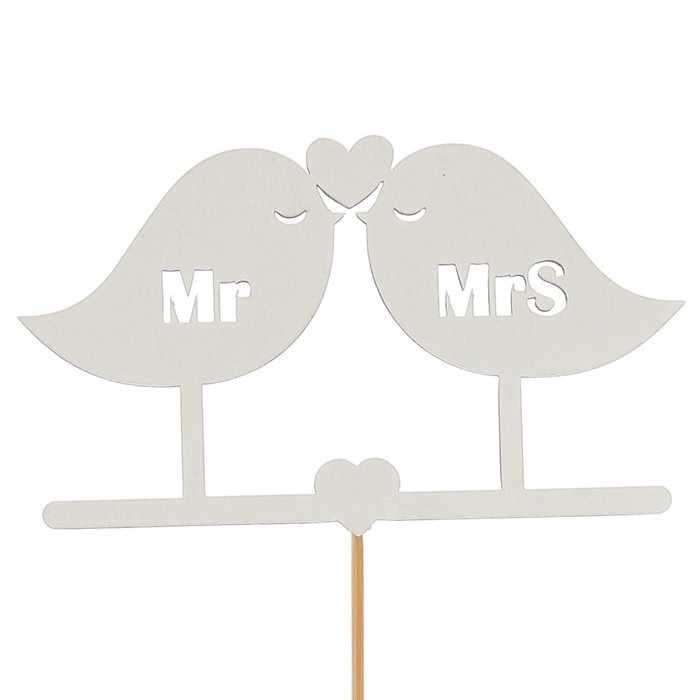 2885851 Топпер «Птички Mr&Mrs», белый