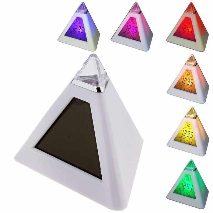 667977 Часы-будильник Пирамида (антистресс)