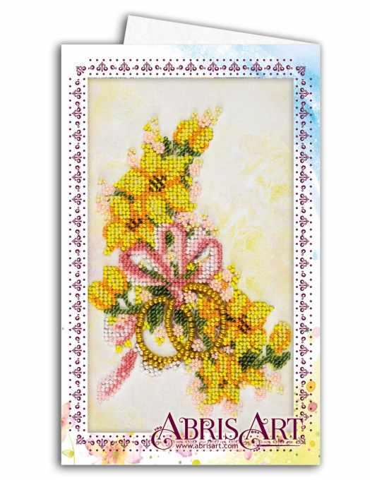 """АОМ-015 """"Свадебные цветы"""" - Открытка-конверт"""
