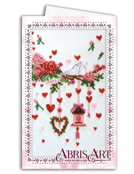"""АОМ-016 """"Свадебная мишура"""" - Открытка-конверт"""