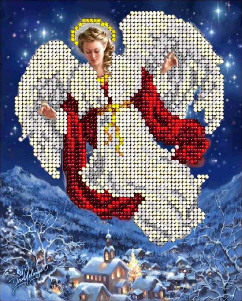Картинки из бисера на рождество