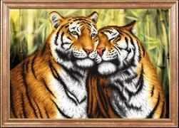 КС-110 Пара тигров - схема для вышивания (Магия канвы)