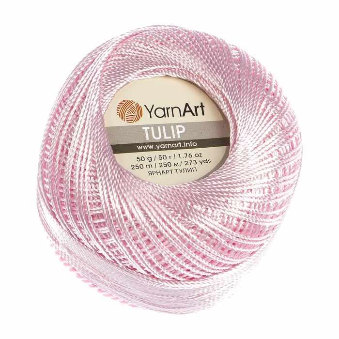 Пряжа YarnArt Tulip Цвет.415 Светло-розовый