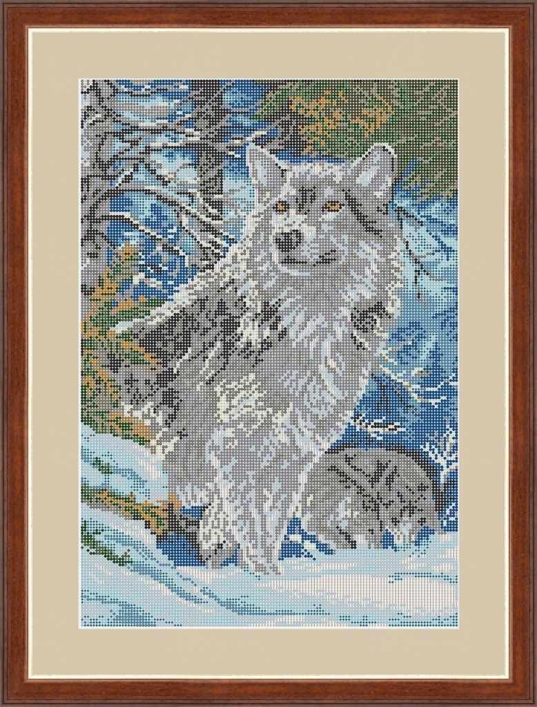 КАЮ4029 Волк в горах - схема для вышивания (Матрёшкина)