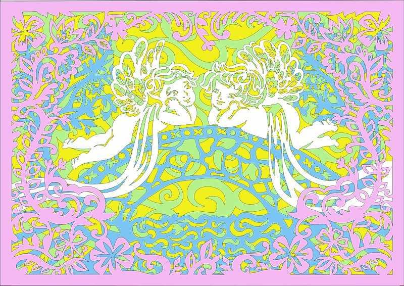 130423 Базовый набор Ангелочки на мосту (многослойные)