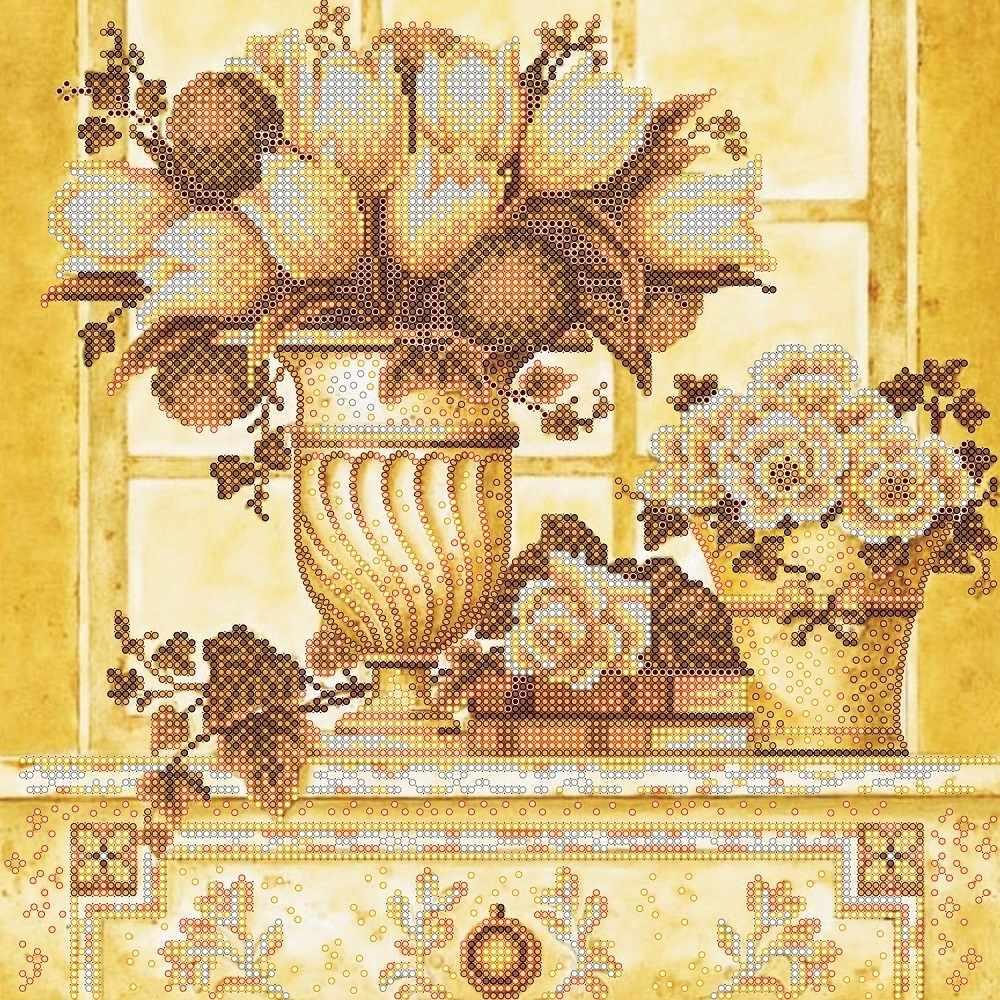 """АС-336 """"Палевые цветы"""" - схема для вышивания (Абрис Арт)"""