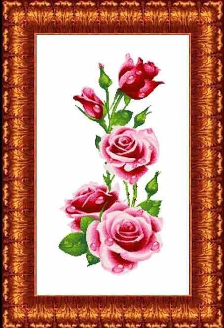 КТКН 128 Розы - набор (Каролинка)