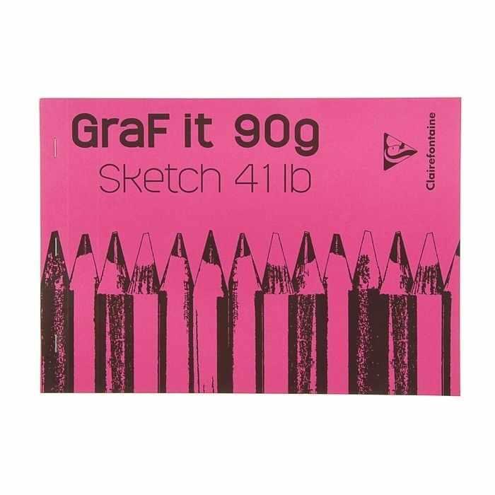 1734042 Блокнот для рисунков Clairefontaine Graft It, розовый