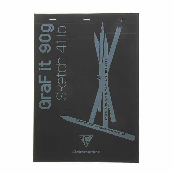 1734043 Блокнот для рисунков Clairefontaine Graft It, чёрный