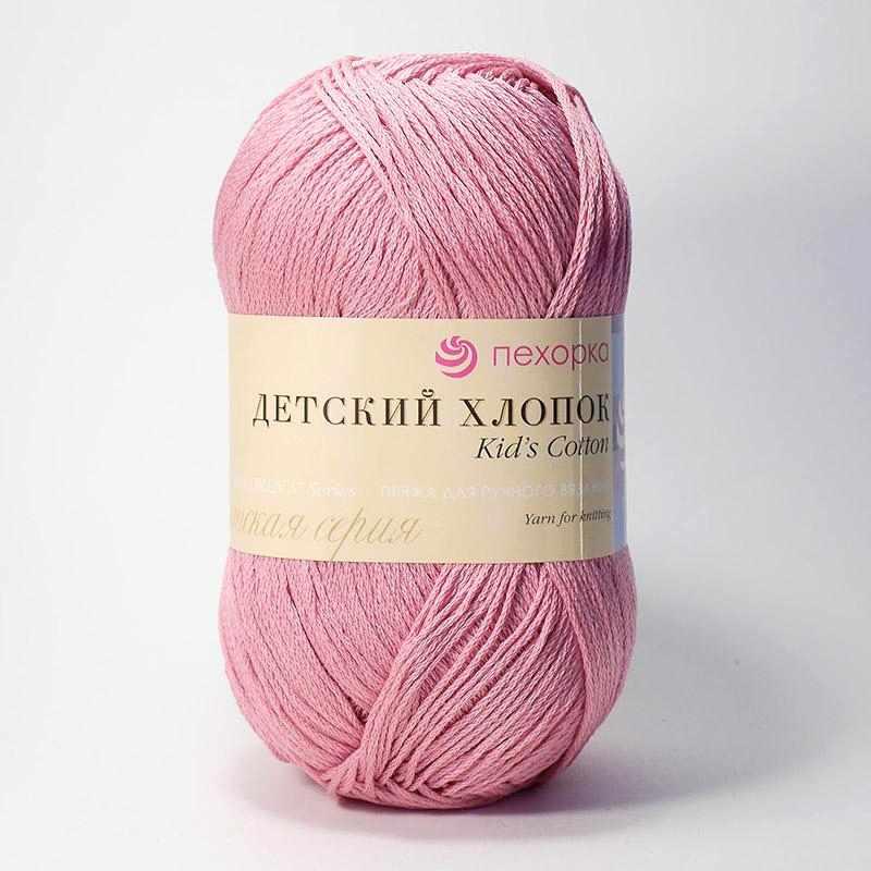 Пряжа Пехорка Детский хлопок Цвет.11 Ярко-розовый