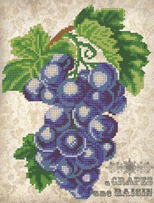 ДА4-023 Виноград - схема для вышивания (Наследие)