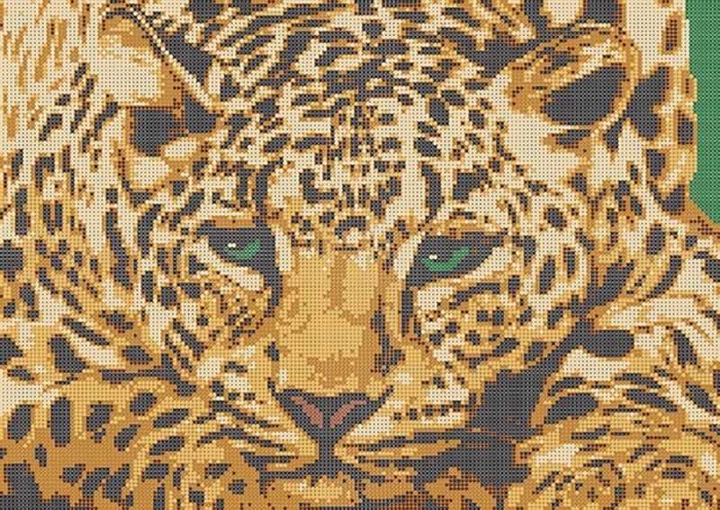 КБ-123 Леопард - схема для вышивания (Наследие)