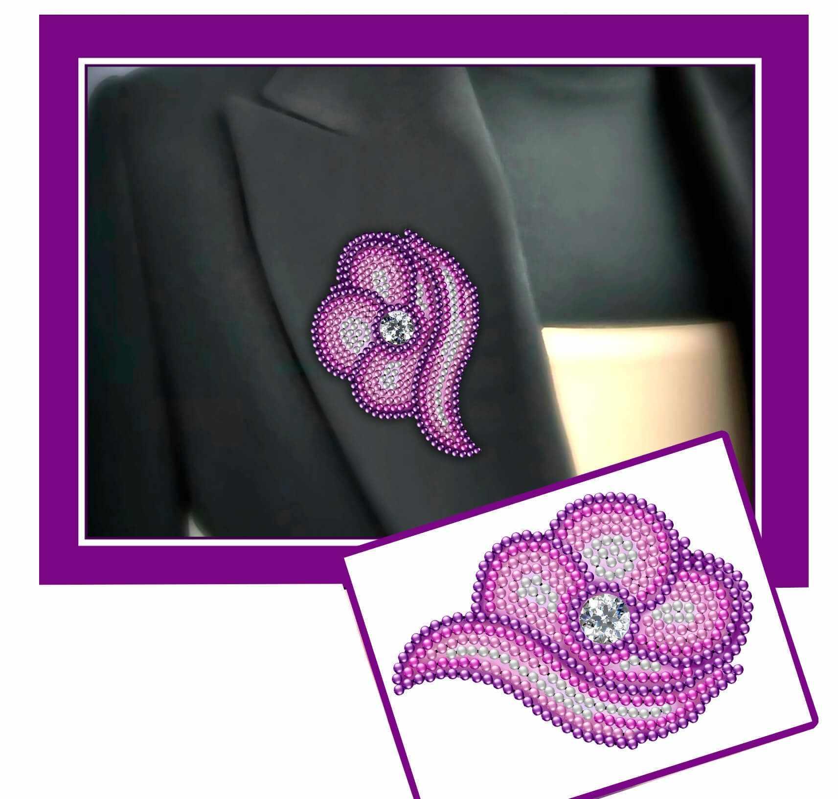 У-10 Цветок розовый