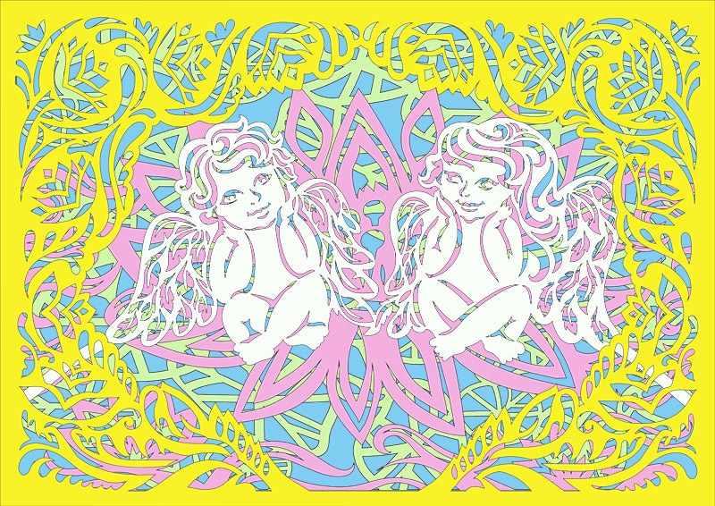 130427 Базовый набор Ангелочки в лотосе (многослойные)