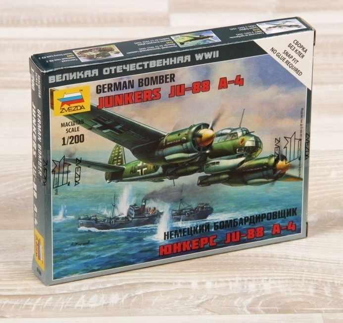 "1203944 Сборная модель ""Немецкий самолёт ""Юнкерс"" 88А4"""