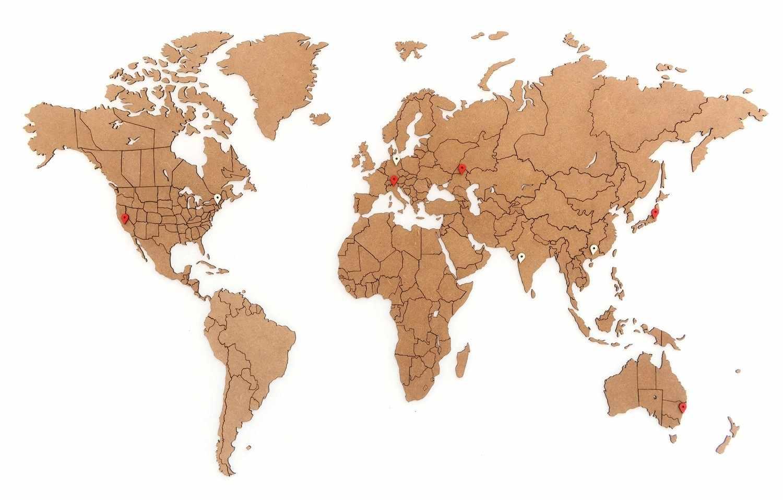 "Пазл ""Карта мира"" Brown 100 x 60"
