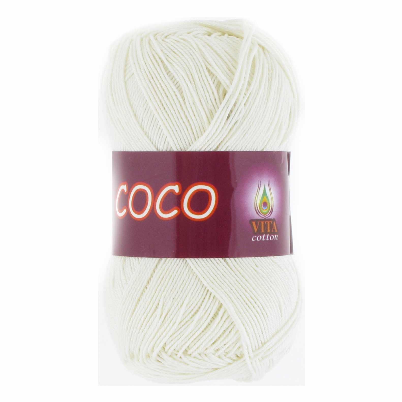 Пряжа VITA Coco Цвет.3853 Молочный