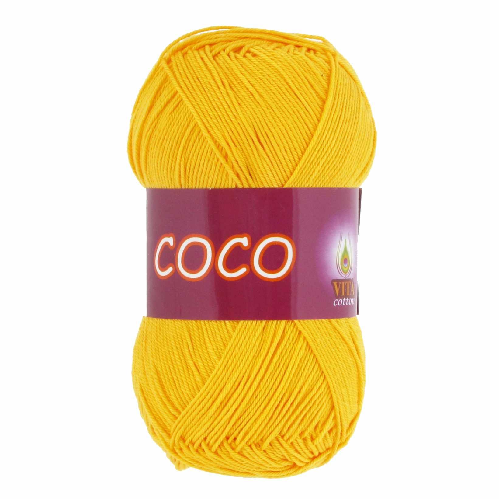 Пряжа VITA Coco Цвет.3863 Желтый