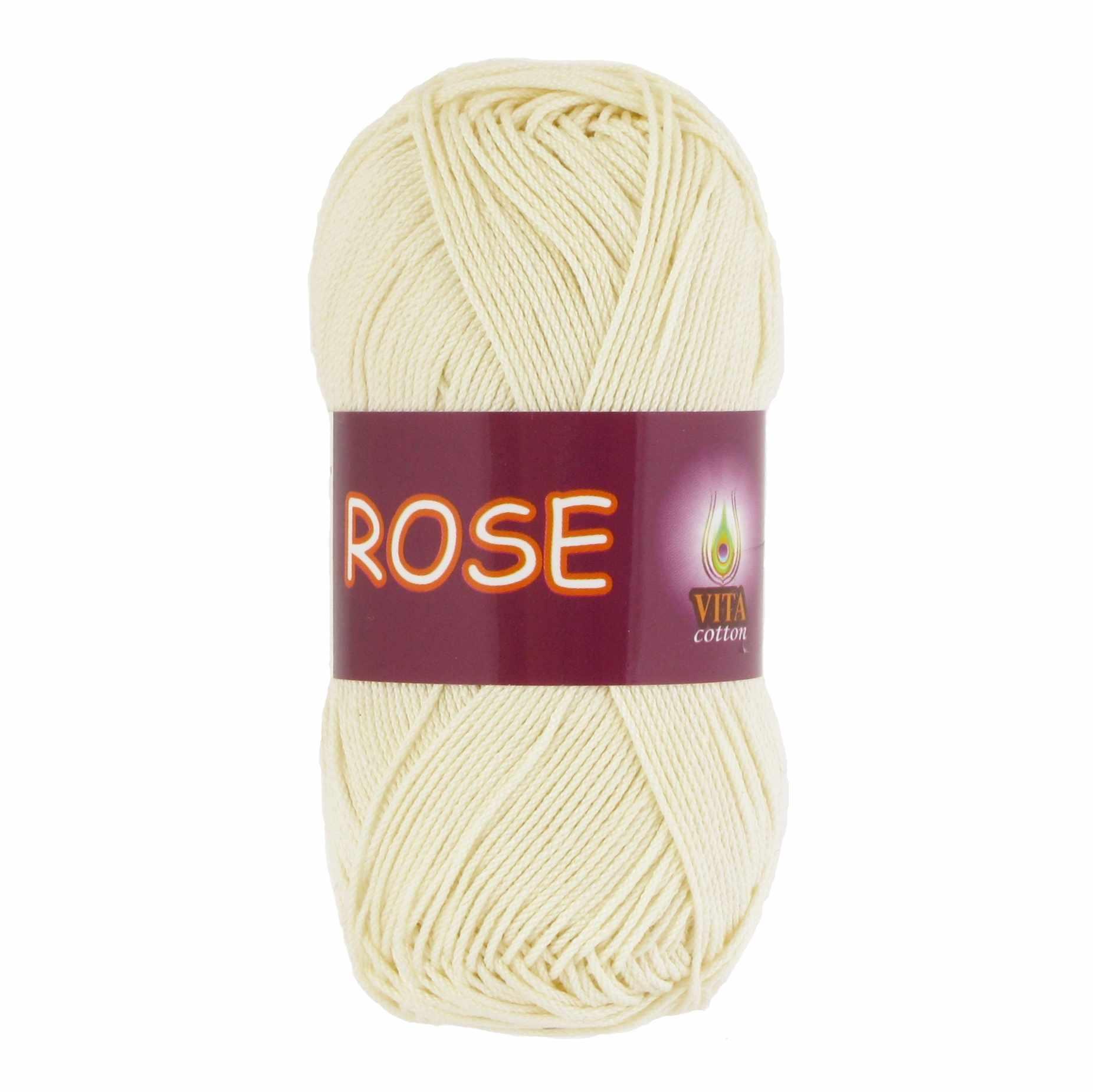 Пряжа VITA Rose Цвет.3950 Экрю