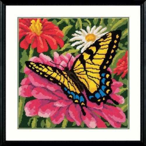 20087-DMS Бабочки и цинии
