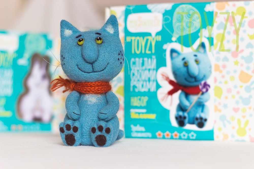"""1246705 Набор для создания игрушки в технике валяния """"Синий кот"""""""