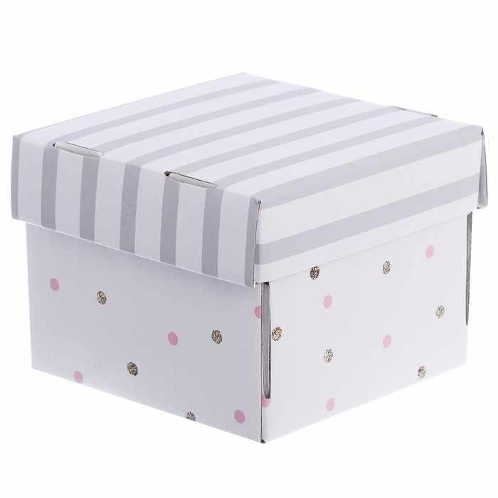 """2870903 Складная коробка для хранения """"В горошек"""""""
