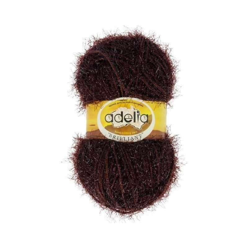 Пряжа Adelia Brilliant 44 т.коричневый