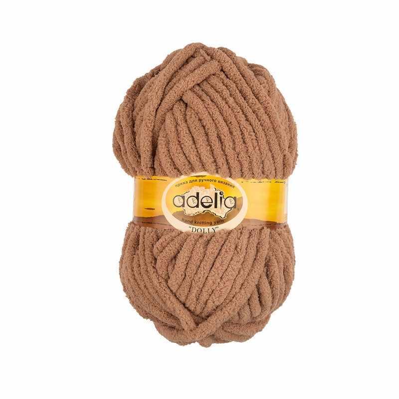 Пряжа Adelia Dolly 22 св.коричневый
