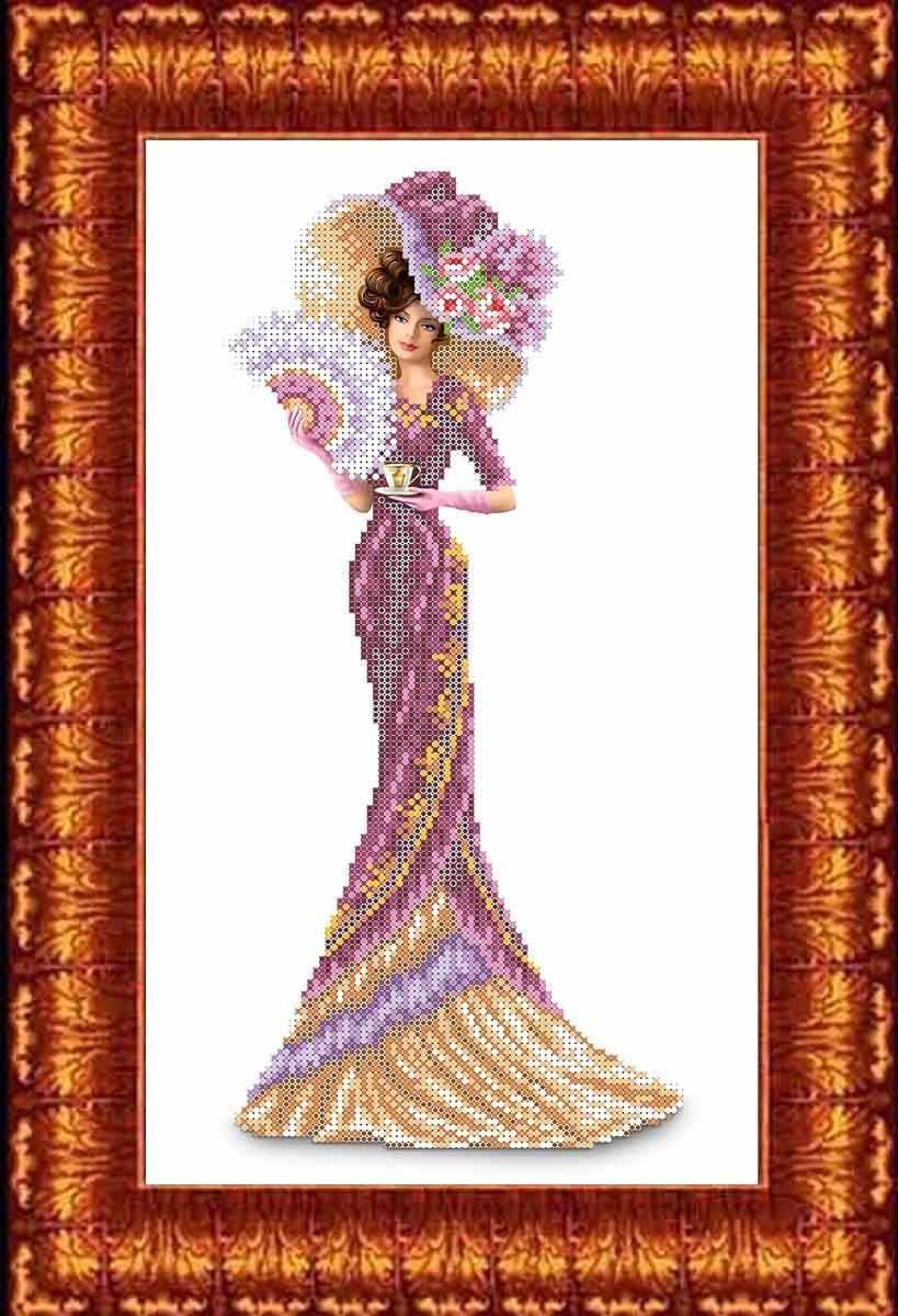 КБЛ 3013 Дама с кофе - схема для вышивания (Каролинка)
