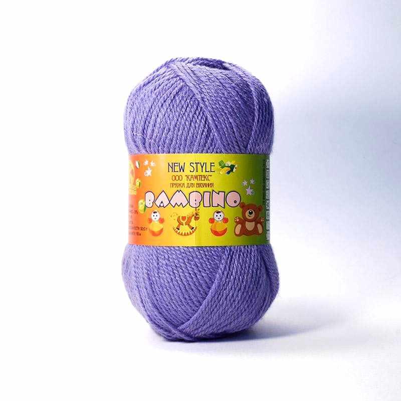 Пряжа Камтекс Бамбино Цвет.178 Сирень темная