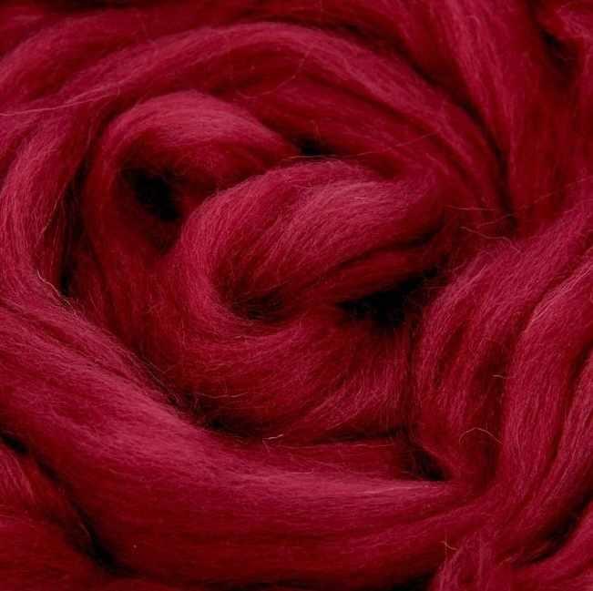 Пряжа Камтекс Лента для валяния Цвет.88 Брусника