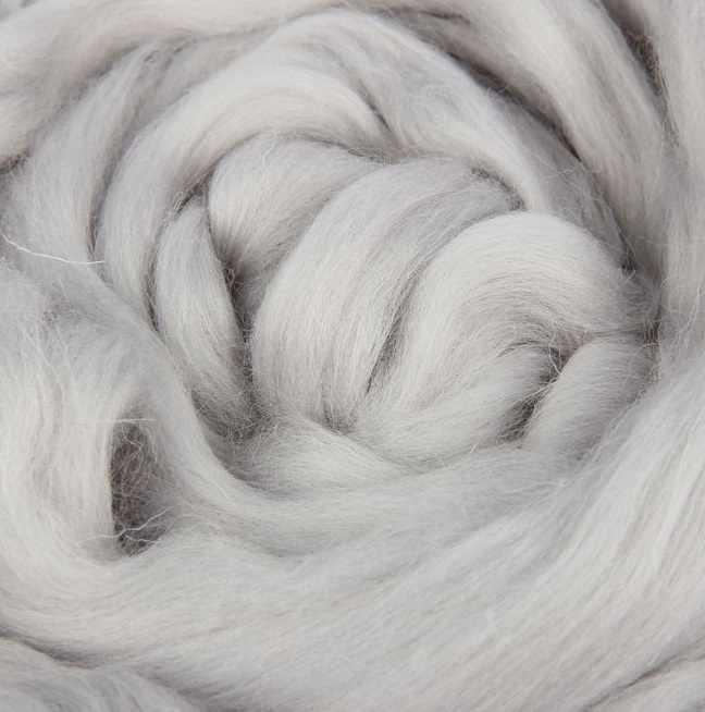 Пряжа Камтекс Лента для валяния Цвет.106 Жемчужный