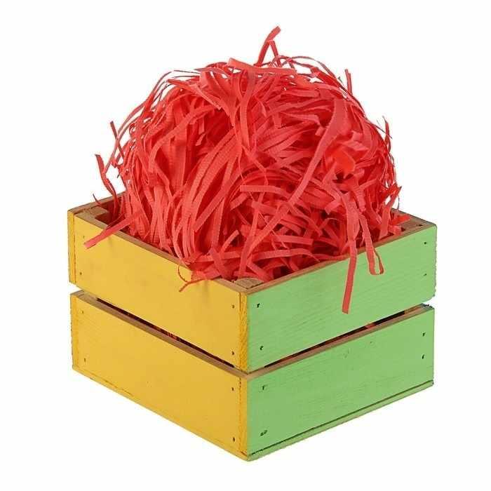 2984390 Наполнитель бумажный красный-коралловый, 50 гр