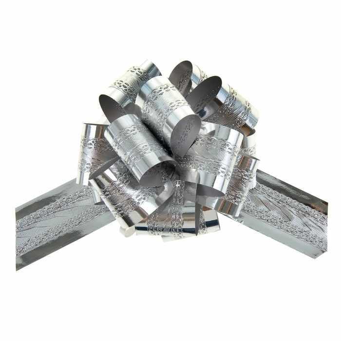 848849 Бант-шар №3,2 полоса, серебро