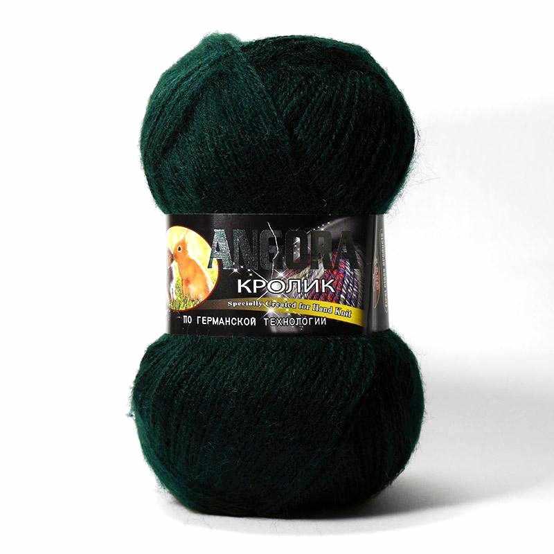 Пряжа Color City Angora кролик Цвет.2427 Т.Зеленый