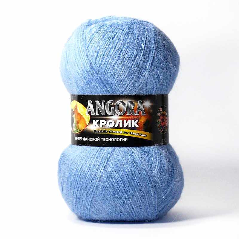 Пряжа Color City Angora кролик Цвет.300 Голубой