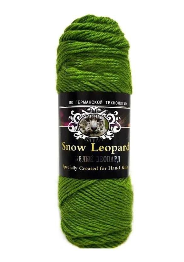 Пряжа Color City Белый Леопард Цвет.2406 Яр.зеленый