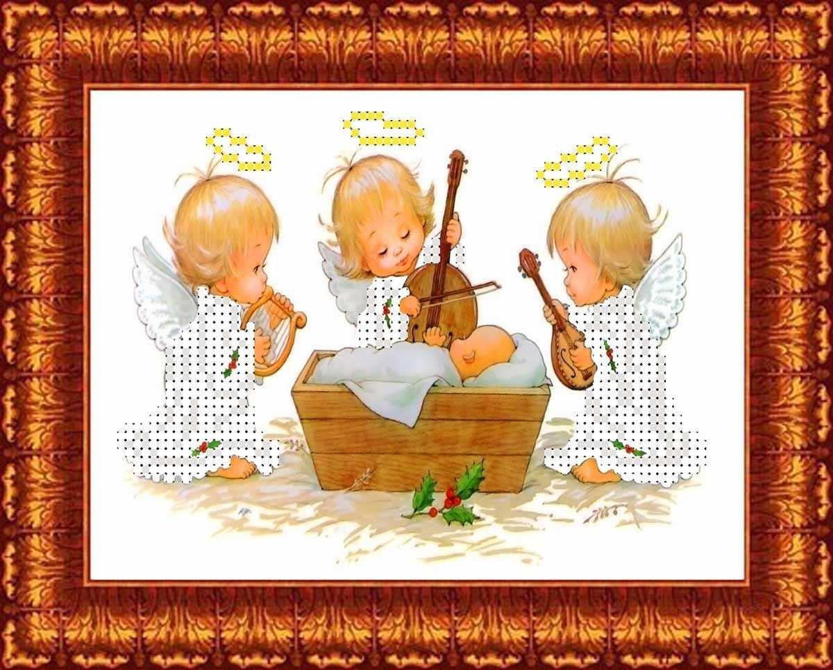 КБАН (ч) 5012 Ангелы у колыбели - набор (Каролинка)