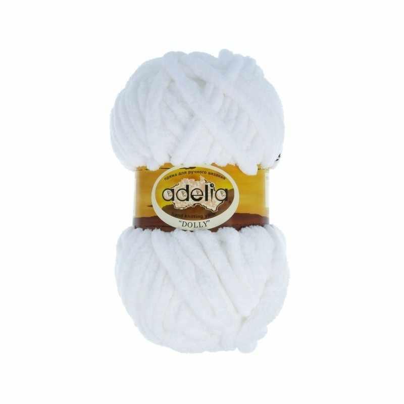 Пряжа Adelia Dolly 01 белый