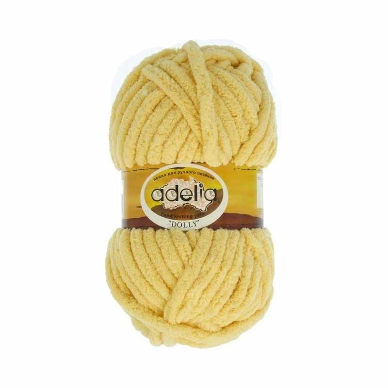 Пряжа Adelia Dolly 03 светло-желтый