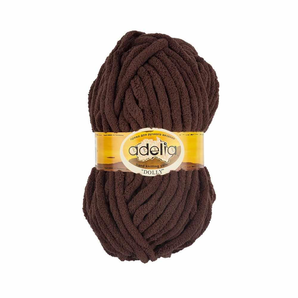Пряжа Adelia Dolly 08 коричневый